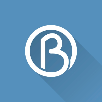 B letter in a circle icon.